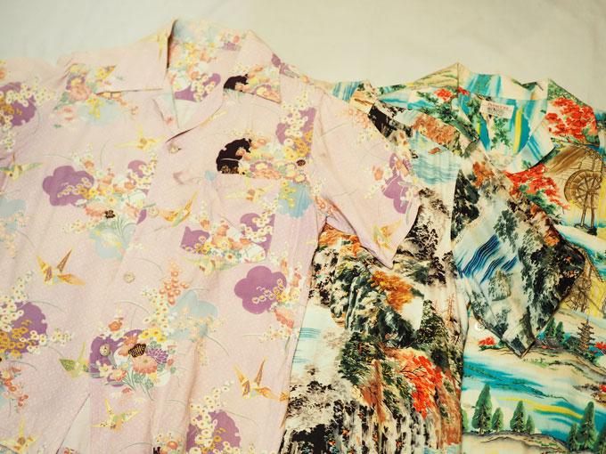 ff8208d9ca20b5 アロハシャツ=南国柄、なんて思いがちですが、こんな風に日本の文化がミックスされた1枚もあるんですね~。素敵です。