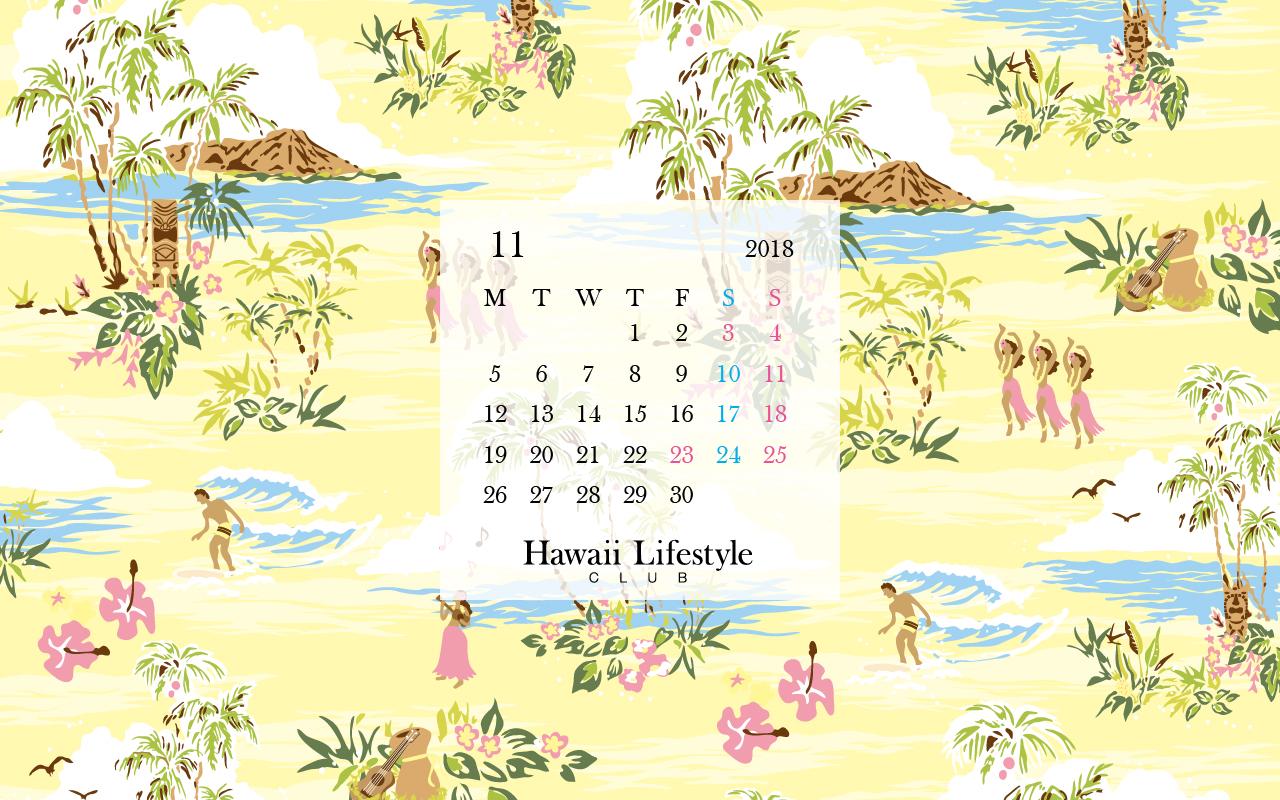 メルマガ会員特典 2018年11月のブックカバー Hawaii Lifestyle Club